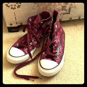 CONVERSE high top in roses